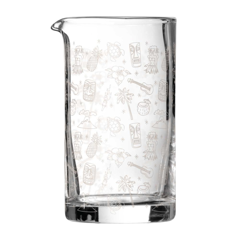 tiki mixing glass