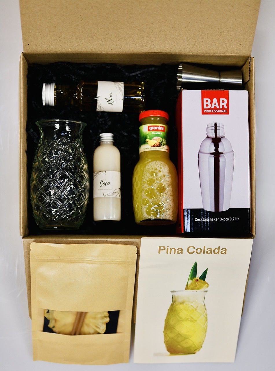 BOX À COCKTAIL PINA COLADA